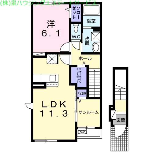 ブリズ・プランタニエール Ⅱ 2階の物件の間取図