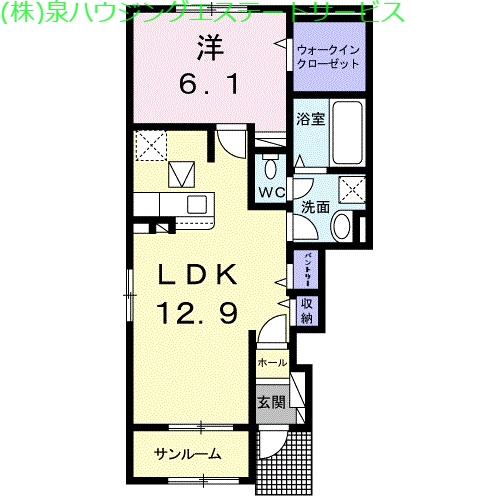 深芝アパート 1階の物件の間取図