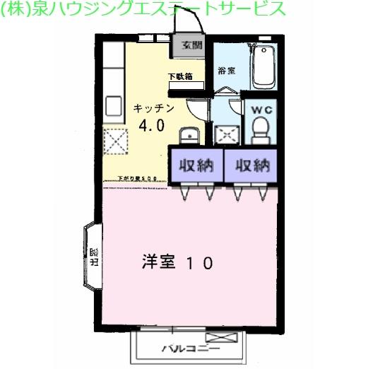 マウントリヴァB 2階の物件の間取図
