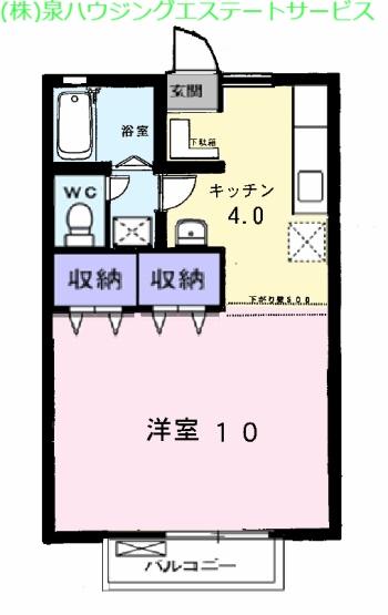 マウントリヴァC 2階の物件の間取図