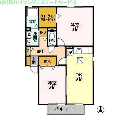 コンフォール・オリエ 1階の物件の間取図