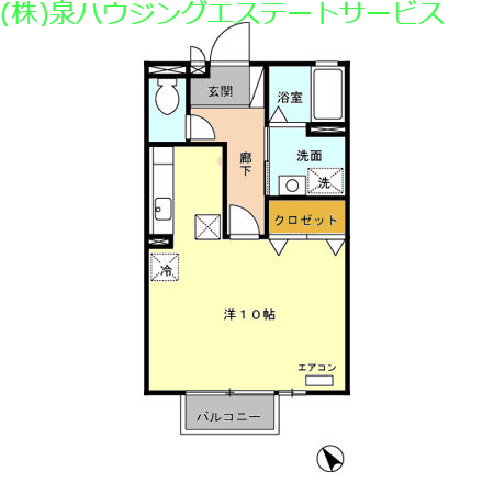 サンク・ソレイユ A・B 1階の物件の間取図