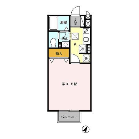 ウィンベル A・B 1階の物件の間取図