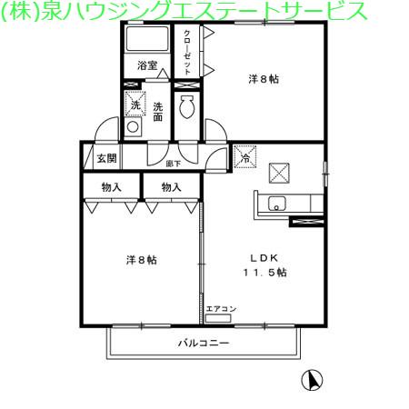 カプチーノ A・B・C・D 1階の物件の間取図