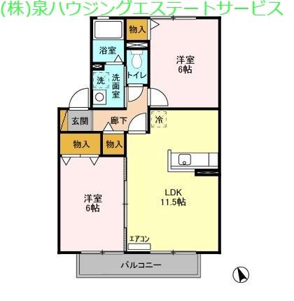 カプチーノ A・B・C・D 2階の物件の間取図