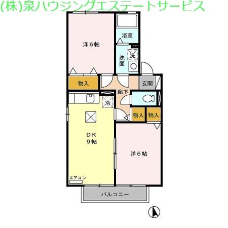 グランディア 1階の物件の間取図
