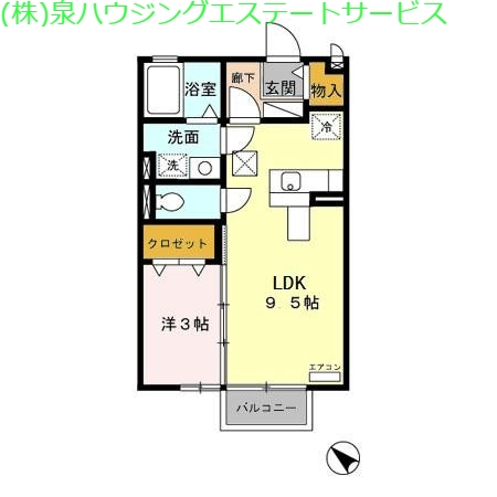 シャルムプランタン 1階の物件の間取図