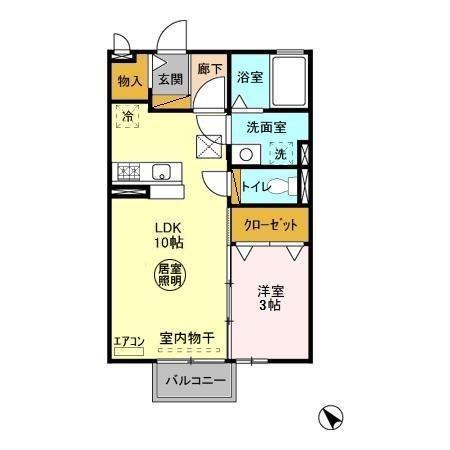 ヴァン・ソフィア 1階の物件の間取図