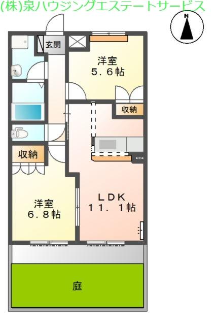スカイ・パレット 1階の物件の間取図