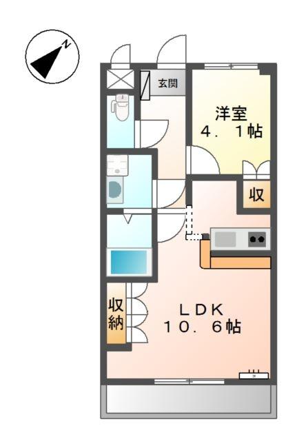 Dieu habitation 3階の物件の間取図