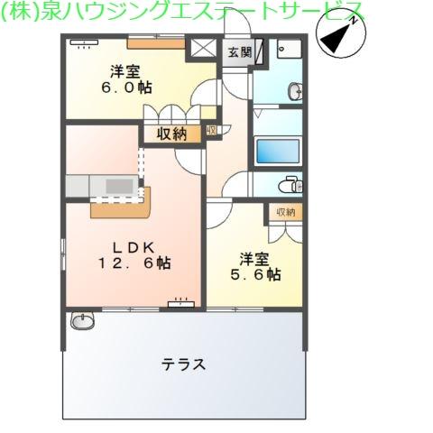 ペアレントSK 1階の物件の間取図