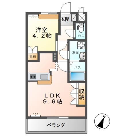 エクセール 2階の物件の間取図