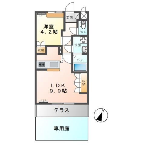 エクセール 1階の物件の間取図