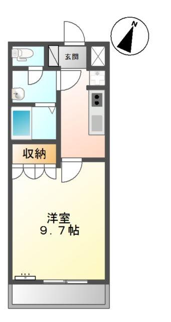 クリアーメゾン・J.BS 2階の物件の間取図