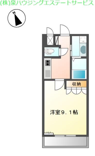 プリムロウズ 2階の物件の間取図