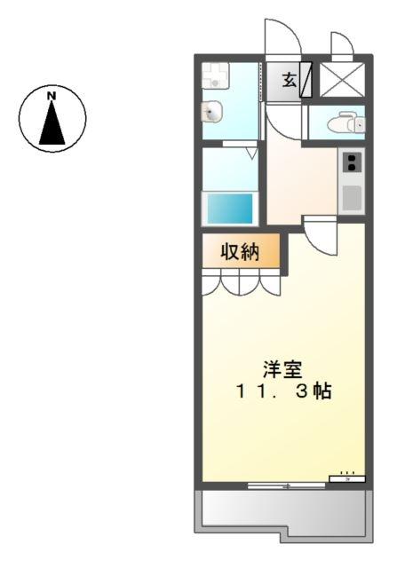 モンテ・アンヴェリーノ 2階の物件の間取図