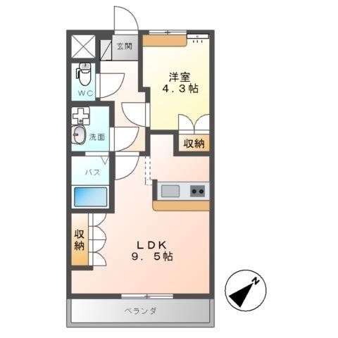 ローズハート 1階の物件の間取図