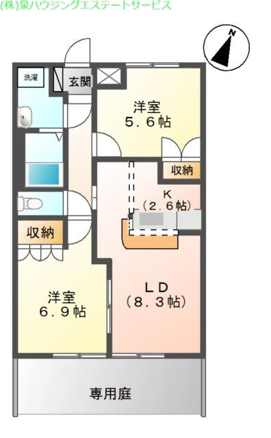 エスポアールA 1階の物件の間取図