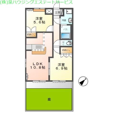 アシューレA 1階の物件の間取図
