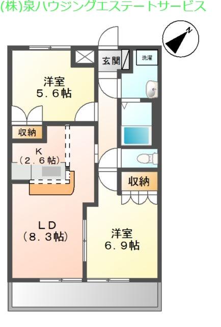 グレイスシャトー 2階の物件の間取図