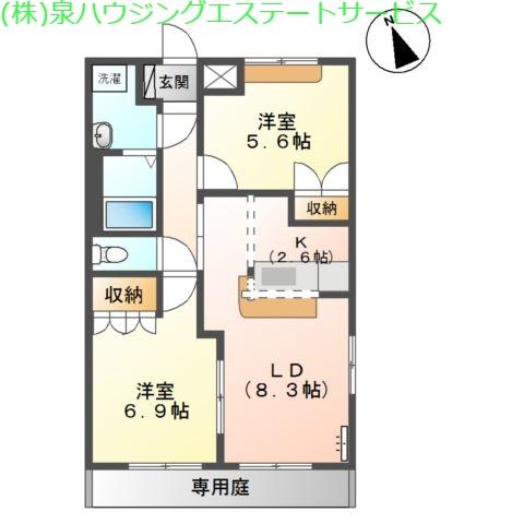 フェアリー 1階の物件の間取図
