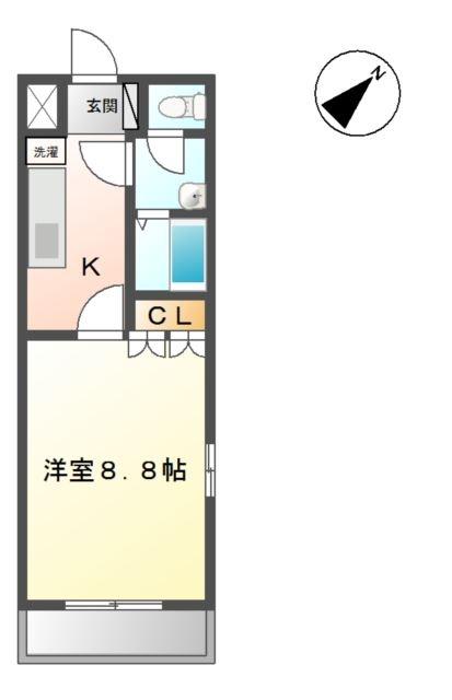 アルカディア 1階の物件の間取図