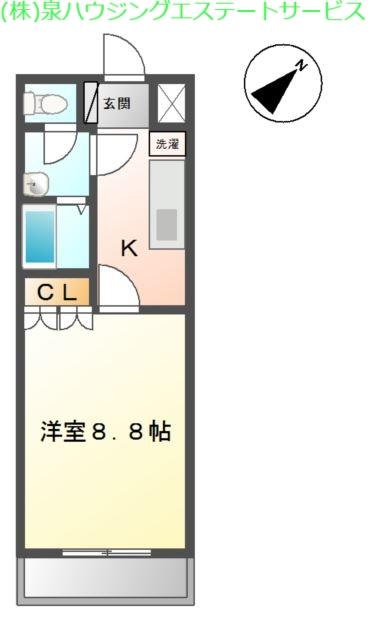 アルカディア 2階の物件の間取図