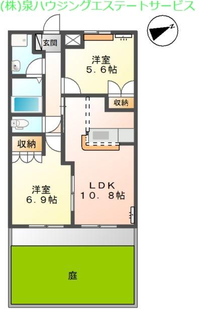 ルミエール 1階の物件の間取図