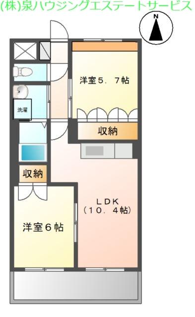 ディア・ベルジュ 3階の物件の間取図