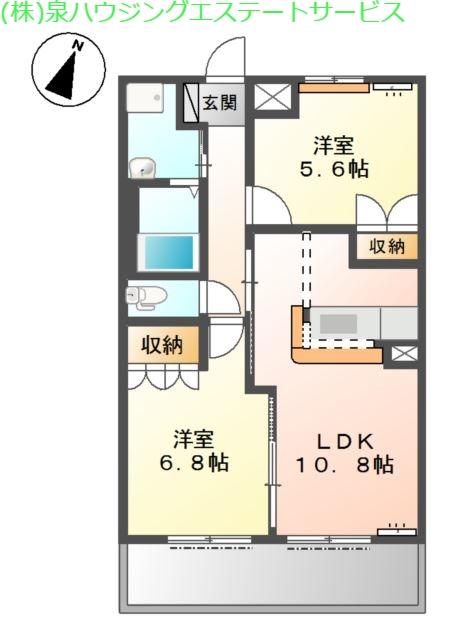 ロープン ドローム 1階の物件の間取図