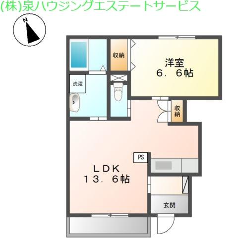 リアン 1階の物件の間取図