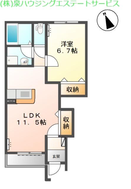 カーサ・アバンティー 1階の物件の間取図