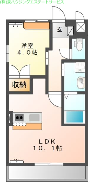 アルヴィータ 2階の物件の間取図