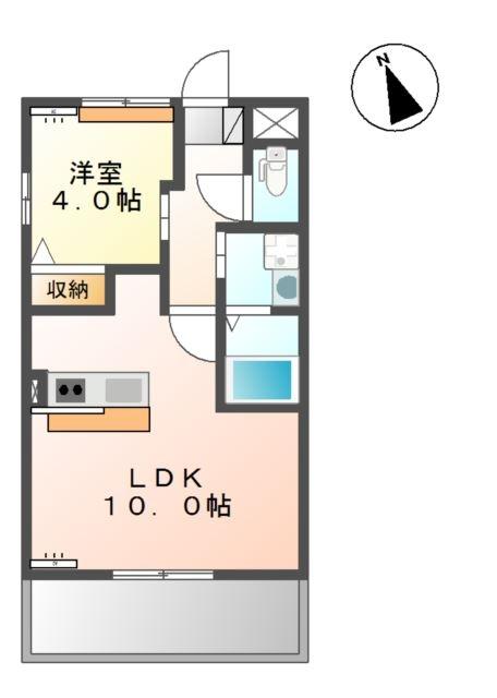 ファーム ヴィレッジ トーワ 2階の物件の間取図