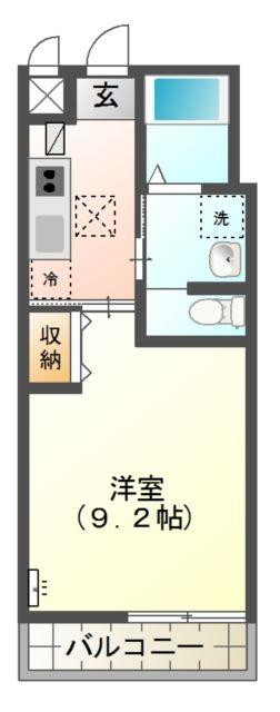 Laurier 2階の物件の間取図