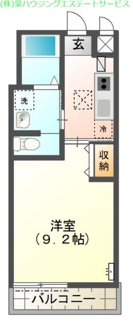 Laurier 1階の物件の間取図
