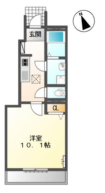 Feliz Reve 1階の物件の間取図