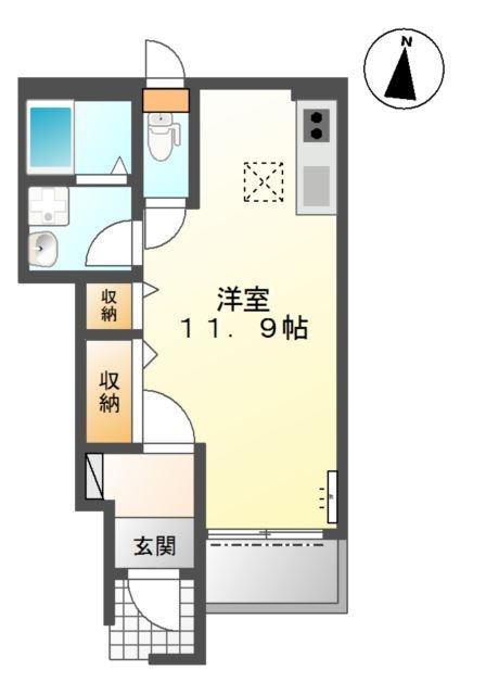 EVER BLUE 1階の物件の間取図