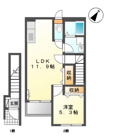La-recolte 2階の物件の間取図