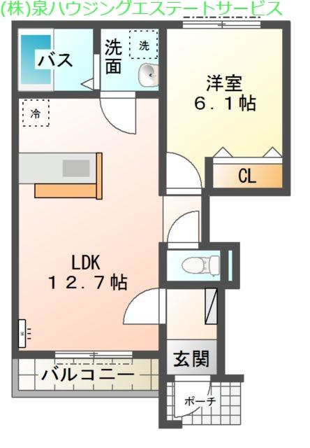 メゾン ポルテ 1階の物件の間取図