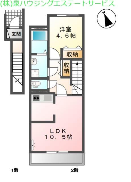 Durate Reve 2階の物件の間取図