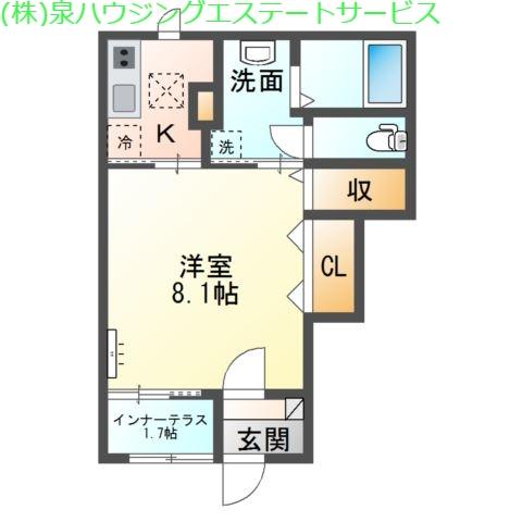 マウントリバー Ⅰ 1階の物件の間取図