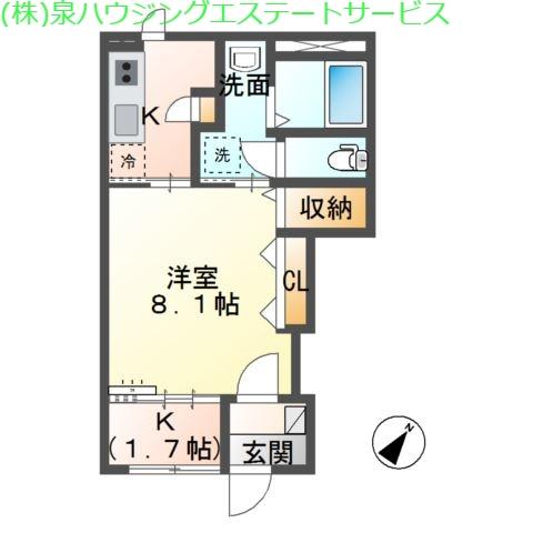 マウントリバー Ⅱ 1階の物件の間取図