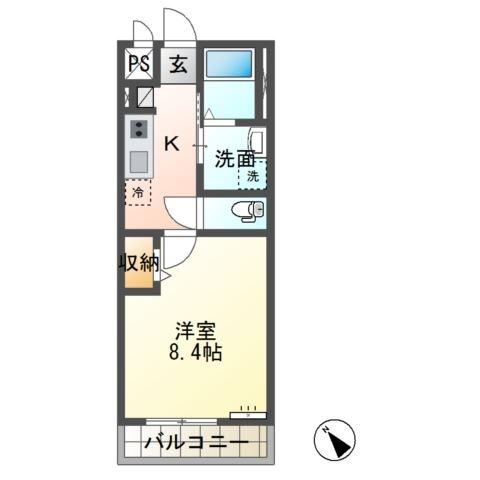 Suzuran Strada 2階の物件の間取図