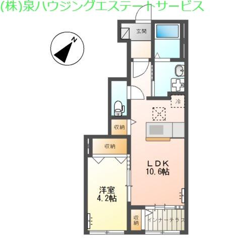 (仮称)神栖市土合西スターテラスⅡ 1階の物件の間取図