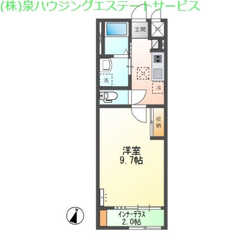 (仮称)神栖市知手中央2K6シェルルユーロピュア 1階の物件の間取図