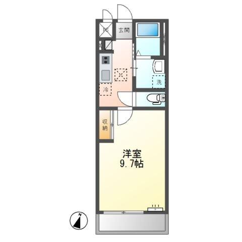 (仮称)神栖市知手中央2K6シェルルユーロピュア 2階の物件の間取図