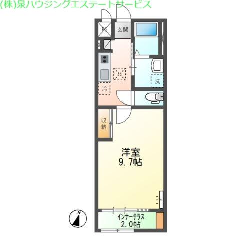 (仮称)神栖市知手中央2K4シェルルユーロピュア 1階の物件の間取図