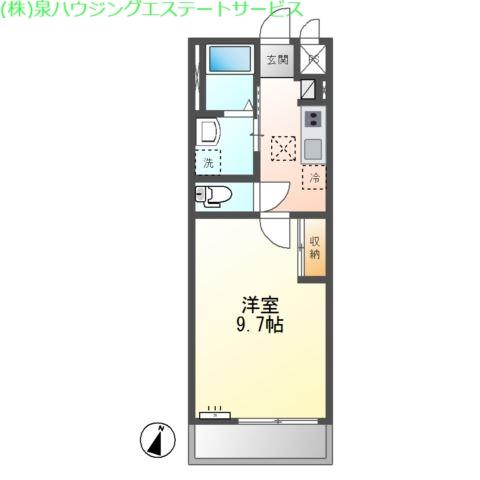 (仮称)神栖市知手中央2K4シェルルユーロピュア 2階の物件の間取図