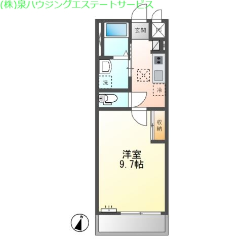 アビィ 2階の物件の間取図